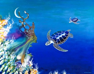 The Twin Turtles of Oceania, by Lee James Pantas